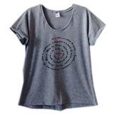 Roupas Femininas Camiseta Ave Maria Blusa Gospel Cinza