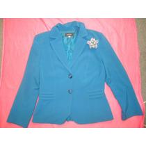 Hermoso Conjunto De Saco/ Pantalon Azul Talla Grande