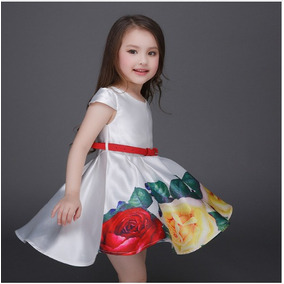 Vestido Niña Importado Forrado