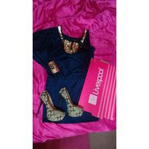 Vestido Liverpool Dorado Original