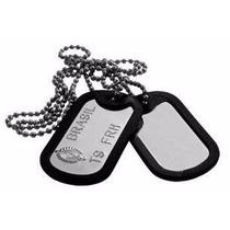 Colar Placa Dog Tag Gravado Identificação Militar Exército