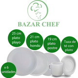 Juego Set De Vajilla Tsuji Platos Taza Con Plato Bazar Chef