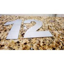 Números Residenciais De 20 Cm Em Aço Inox ( Não É Caixa)