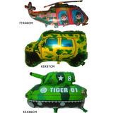 Balão Metalizado Militar Tanque Jipe Helicóptero Camuflado