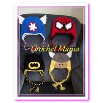 Gorros Tejidos A Crochet Para Niños Super Heroes Avengers