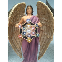 Arcangel Metatron De Resina Decorado 28 Cm El Gran Instructo