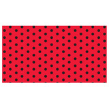 Papel Seda, Barrilete. Lunares 70x50 X 50 Rojo Punto Negro