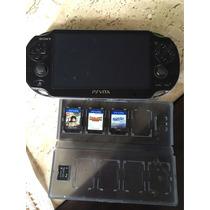 Ps Vita + Cartão De Memória 4 Gb + 4 Jogos
