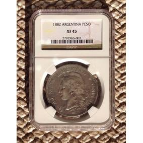 Moneda Argentina 1 Peso1882 Patacón De Plata Certificada