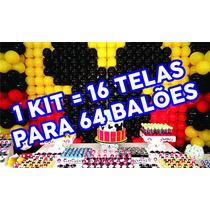 Kit, Tela Mágica, Pds, Painel De Balões Bexigas Bolas Festas