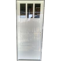 Puerta Exterior Aluminio 83x200 Blanca