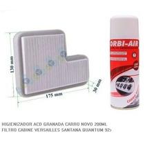 Kit 02 Filtros Ar Cabine Santana 92/..+ 01 Higienizador