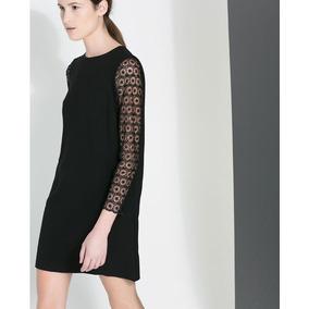 Vestido Crepe Seda Com Renda (42) - Pronta Entrega