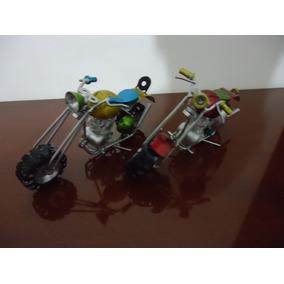 Mini Moto De Metal Retro Antiga