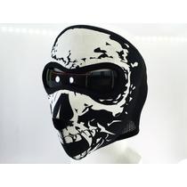 Máscara Neopreno Antifaz Motociclista Calavera