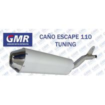 Caño Escape 110 Tuning Motomel Guerrero Honda Ghiggeri