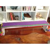Mueble Banco Rústico De Campo Con Textil De Diseño