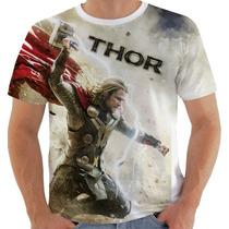 Camiseta Ou Baby Look Thor Super Heroi Vingadores Marvel