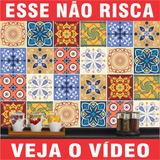 Kit Adesivo Azulejo Cozinha Vintage Decorativo 15x15