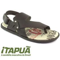 Sandália Masculina Itapuã Couro 14502p15 - Marrom