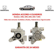 Bomba Licuadora Direccion Hidraulica Honda Accord 4 Cil 2001