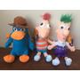Kit 3 Bonecos De Pelúcias Phineas, Ferb, Perry -frete Grátis