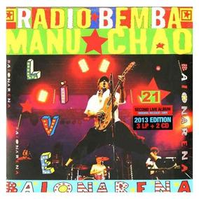 Manu Chao Baionarena Radio Bemba Live 3 Lp Vinil + 2 Cd Novo