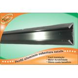 Perfil Alumínio Cobertura Estufa, Base Dupla De Mola/ Metro