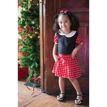 Vestido Fantasia Babymouse Menina Minnie - 0 A 3 Anos