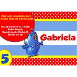 50 Convites Galinha Pintadinha 10x7cm