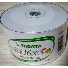600 Dvd-r Ridata Printable 16x ( Id Ritek ) Frete Gratis