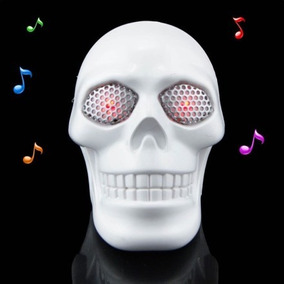 Mini Caixa/amplificador De Som Formato Caveira
