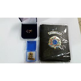 Kit Pastora Carteira De Pastora+anel Teologico+broch Pastora