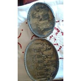 Antiguas Cajas Guarda Postales Forradas En Tela Circa 1900