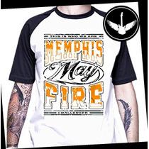 Camiseta Memphis May Fire Raglan Ou Baby Look Rock Banda
