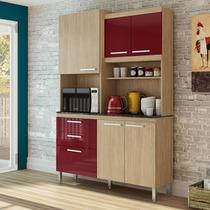 Armário De Cozinha 6 Portas E 2 Gavetas Spazio 206 - Gralar