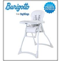 Cadeira Cadeirão P/ Refeição Merenda Branca Burigotto
