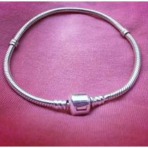 Pulseira Tipo Pandora Life Em Prata 925 Maciça Para Berloque