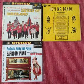 Lote Lps 3 Discos Acetato Dixieland Honky Banjo