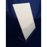 Display Porta Folheto De Mesa A4 Em Acrilico Cristal 2mm