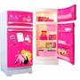 Barbie Heladera + Anafe Con Set De Cocina Combo Z/ Oeste