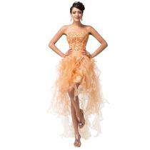 Vestido 15 Anos Debutante. Dourado Tamanho 40/42