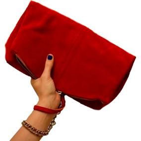 Cartera Sobre Cuero Rojo Cadena Belu Mujer Mulen Shoes