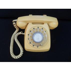 Antiguo Telefono Amarillo Retro Vintage Decoracion