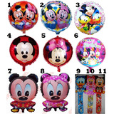 10 Globos Metalizados Mickey Minnie Bebes Princesas