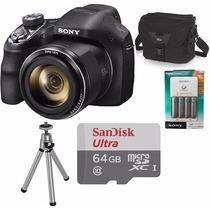 Câmera Sony Dsc-h300 Kit+64gb+tripé+bolsa+carregador+4pilhas