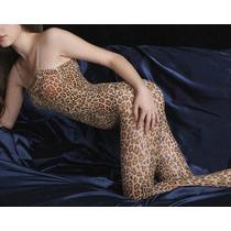 Bodystocking Animal Print Leopardo Malla Enterito (bs04)