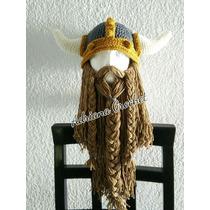 Gorro Vikingo Crochet Tejidos