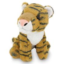 Tigre De Pelúcia 25 Cm-filhote Marrom
