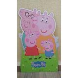 Kit Peppa Pig 1 Totem Chão E 6 Displays De Mesa Mdf